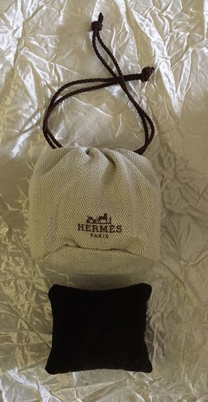 Authentic Hermès Velvet Pouch w/ cushion for Sale in Stafford Township, NJ