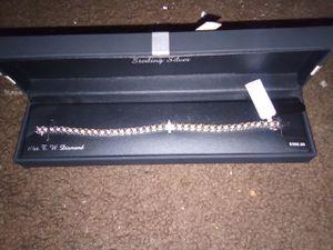 Sterling Silver 1/4 CT Diamond bracelet for Sale in Phoenix, AZ