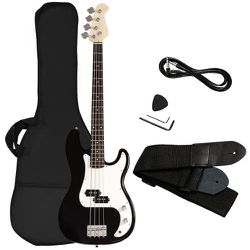 Electric Bass Guitar Full Size 4 String w/ Bag Strap Guitar Pick Amp Cord Black for Sale in Alhambra,  CA