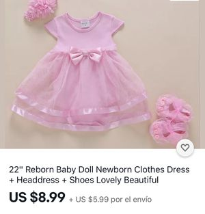 baby 👶🏼 clothes dress, for Sale in San Antonio, TX
