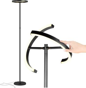 Brightech Halo Split - Modern LED Torchiere Floor Lamp, For Offices - Bright Standing Pole Light - Tall, Dimmable Uplight for Reading In Your Bedroom for Sale in Los Angeles, CA