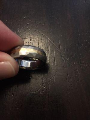 18K Gold & Titanium Hammered Men's Wedding Ring for Sale in Denver, CO