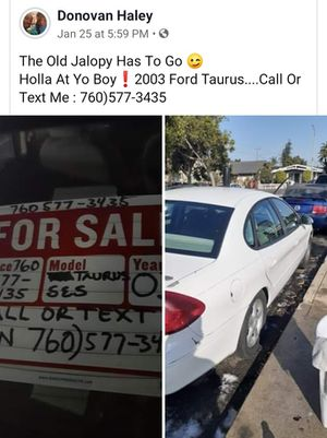 Ford Taurus SES 2003 146,000 miles $900 or best OFFER call Or text Donovan {contact info removed} for Sale in Long Beach, CA