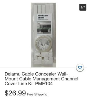 Dekamu Cable Concaler Wall Mount Cable Management Channel Cover Line Kit PME104 for Sale in South Gate, CA