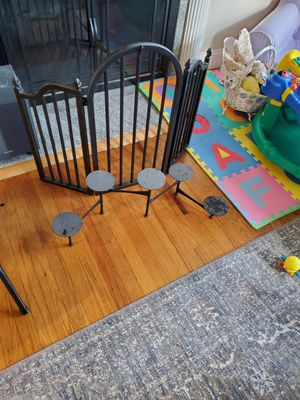 Fireplace gate and 5 teir candle stick holder for Sale in Northborough, MA