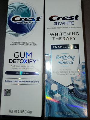 Crest Gum Detoxify & Whitening Therapy Toothpaste for Sale in West Orange, NJ