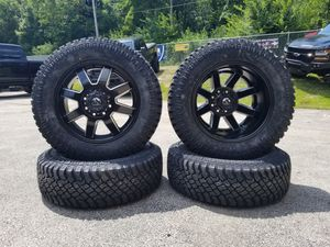 20in Fuel Maverick Dually Wheels with All Terrain Tires for all applicable Dually Trucks for Sale in Joliet, IL