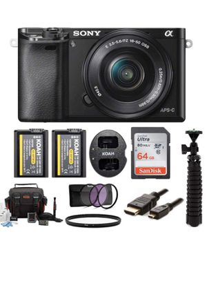 Sony a6000 Mirrorless Camera w/ 16-50mm & 55-210mm bundle (10 Items) for Sale in Los Angeles, CA