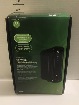 Motorola surfboard docsis 3.0 Cable modem router model SBG6580 for Sale in North Fort Myers, FL