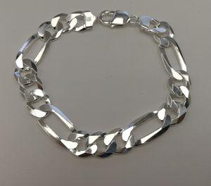 Silver 925 Figaro bracelet for Sale in Los Angeles, CA