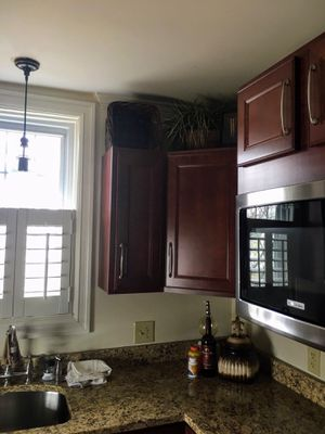Cabinets showed in pictures will all be removed /and all the GRANITE GOES TO, plus sink and faucet..appliances stay with house microwave will go biy for Sale in GRANDVIEW, OH