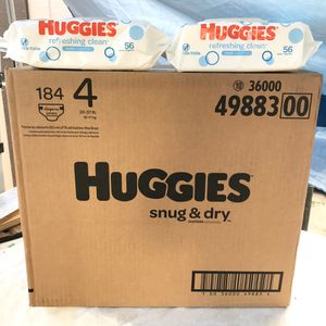 Huggies Size 4/Wipes📍NO DELIVERY📍READ DESCRIPTION FOR LOCATION📍 for Sale in Norwalk, CA