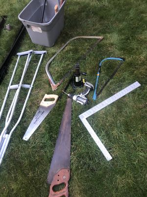 Free tools, bed frame, wine glasses, crutches for Sale in Lynbrook, NY