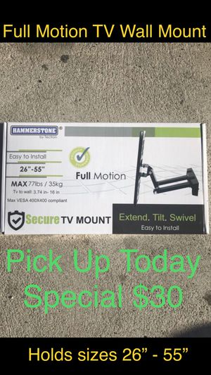Full Motion TV Wall Mount (Black Friday Special Deal) for Sale in Chula Vista, CA