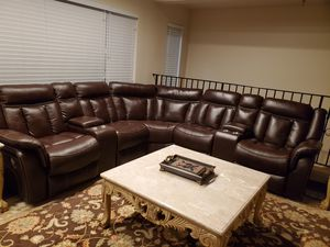 New Leather reclining sectional for Sale in Dearborn, MI
