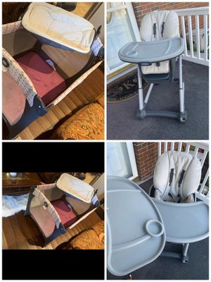 Graco 4 n 1 highchair and matching Pack n play for Sale in South Norfolk, VA
