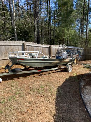 16 ft John boat with trailer for Sale in Winder, GA