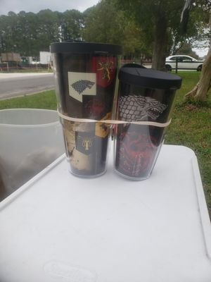 Game of thrones tervis cups new for Sale in Virginia Beach, VA