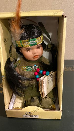 Native porcelain doll for Sale in Des Moines, WA