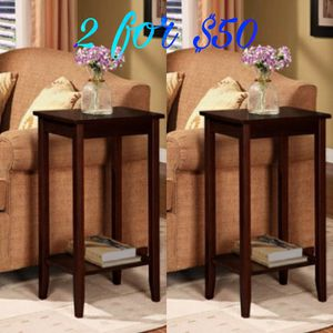 New 2 for $50 Tall End Tables $50 for Sale in Dallas, TX