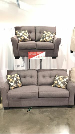 ☑ Special for Black Friday ‼ SPECIAL] Tibbee Slate Living Room Set Sofa & Loveseat 26 for Sale in Jessup, MD