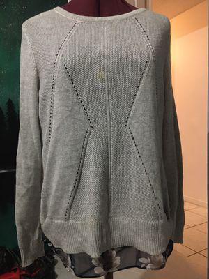 Gray knit sweater , grey sweater for Sale in Whittier, CA