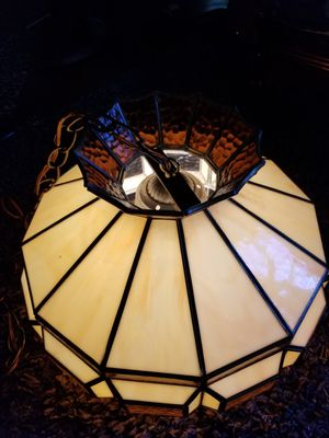 Vintage stained glass light red and white. Lamp for Sale in Mesa, AZ