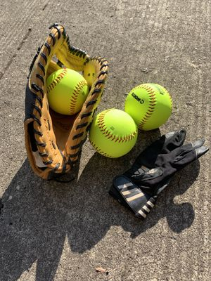 Softball glove and Balls for Sale in Portland, OR