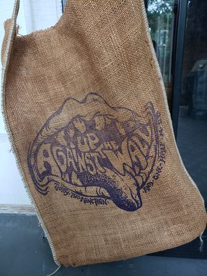 Up Against The Wall Burlap Bag for Sale in Washington, DC