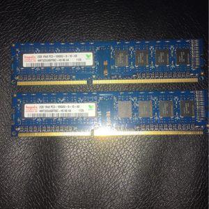HYNIX RAM 2 2GB 1Rx8 PC3-10600U for Sale in Crystal Lake, IL