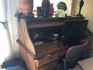 Bassett roll top with lock desk for Sale in Portland, OR