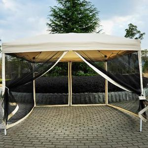 SHIPPING ONLY 10 x 10 Gazebo Canopy Outdoor Pop Up Party Tent Sun Shade w/Mesh Mosquito Net for Sale in Las Vegas, NV
