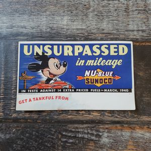 Vintage 1940 Sunoco Oil Mickey Mouse Disney NU-Blue Ink Blotter for Sale in Las Vegas, NV