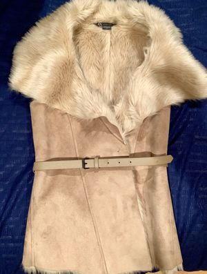 Armani Exchange women's faux fur top/vest for Sale in Tampa, FL