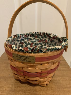 Longaberger Jingle Bell Basket for Sale in Akron, OH