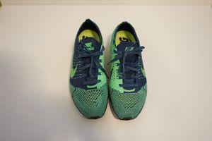 Nike Flyknit Racer - Brave Blue/Poison Green Size 6 for Sale in Seattle, WA