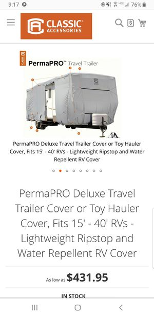 18Ft - 20Ft RV Cover for Sale in Hollister, CA