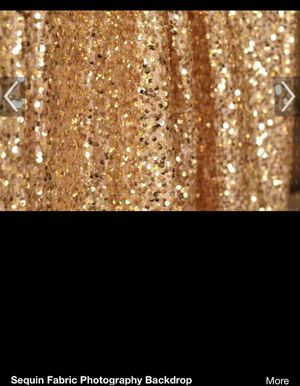 7 foot by 7 foot gold sequin back drop for Sale in Federal Way, WA