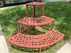 Vintage metal 3 tiered plant stand for Sale in North Royalton, OH