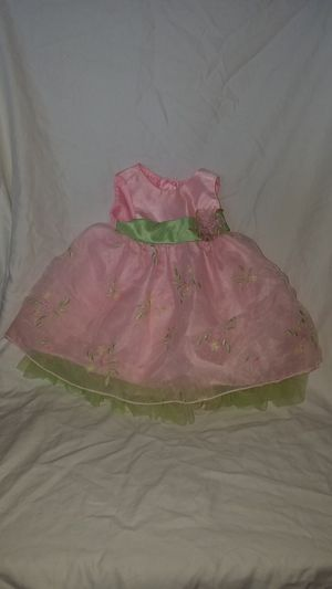 Baby girl dress pink green flowers ect for Sale in St. Peters, MO