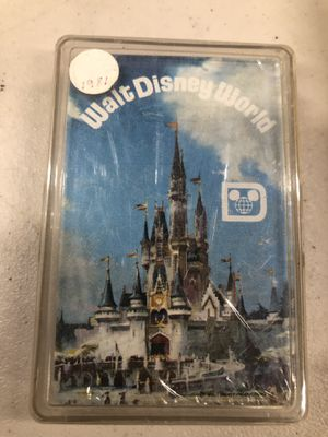 Vintage Disney World playing cards w/pin for Sale in Manteca, CA