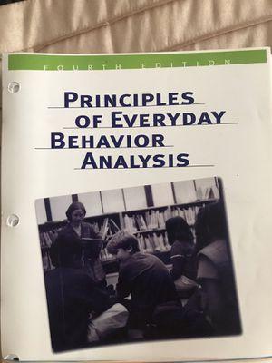 Principles of Everyday Behavior Analysis - Looseleaf Edition for Sale in Burbank, CA