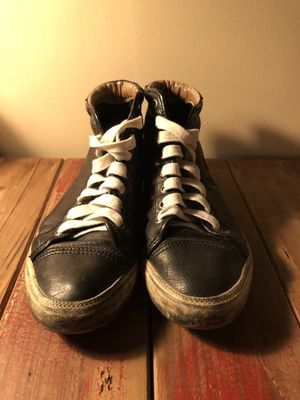 Distressed FRYE black leather sneakers size 8 for Sale in Santa Monica, CA