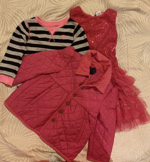 4T kids clothings For Toddler girls, jacket, dress, sweatshirt for Sale in Quincy, MA