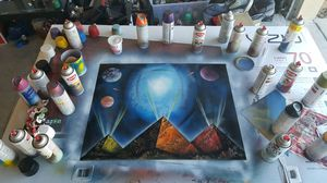 spray paint art painting for Sale in Lakeland, FL