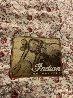 Indian motorcycle wall decor for Sale in Tempe, AZ