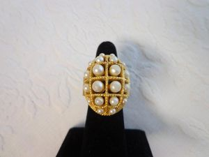 Vintage Avon Gold and Pearl Poison / Locket Ring for Sale in San Juan Capistrano, CA