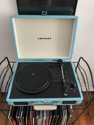 Crosley light blue portable turntable for Sale in Miami Beach, FL