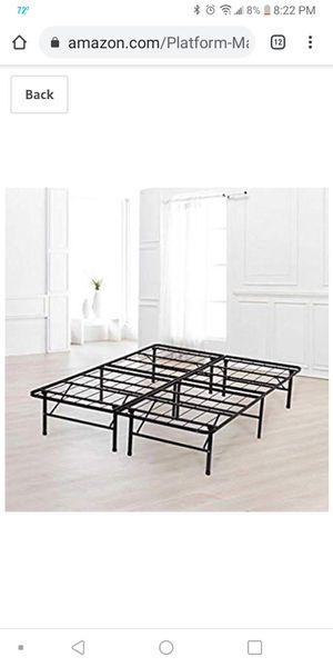 King metal folding bed frame for Sale in Irving, TX