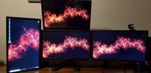 4 monitors plus 3x1 monitor stand for Sale in Brockton, MA